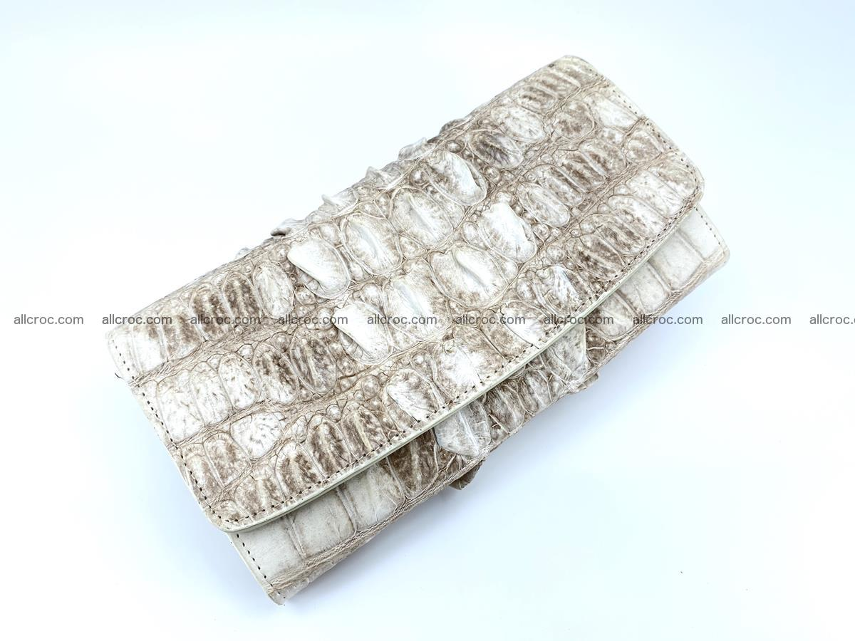 Long wallet trifold from Siamese crocodile leather 511 Foto 2
