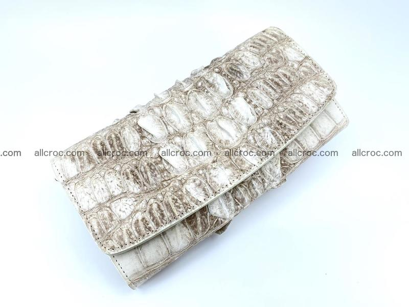 Long wallet trifold from Siamese crocodile leather 511