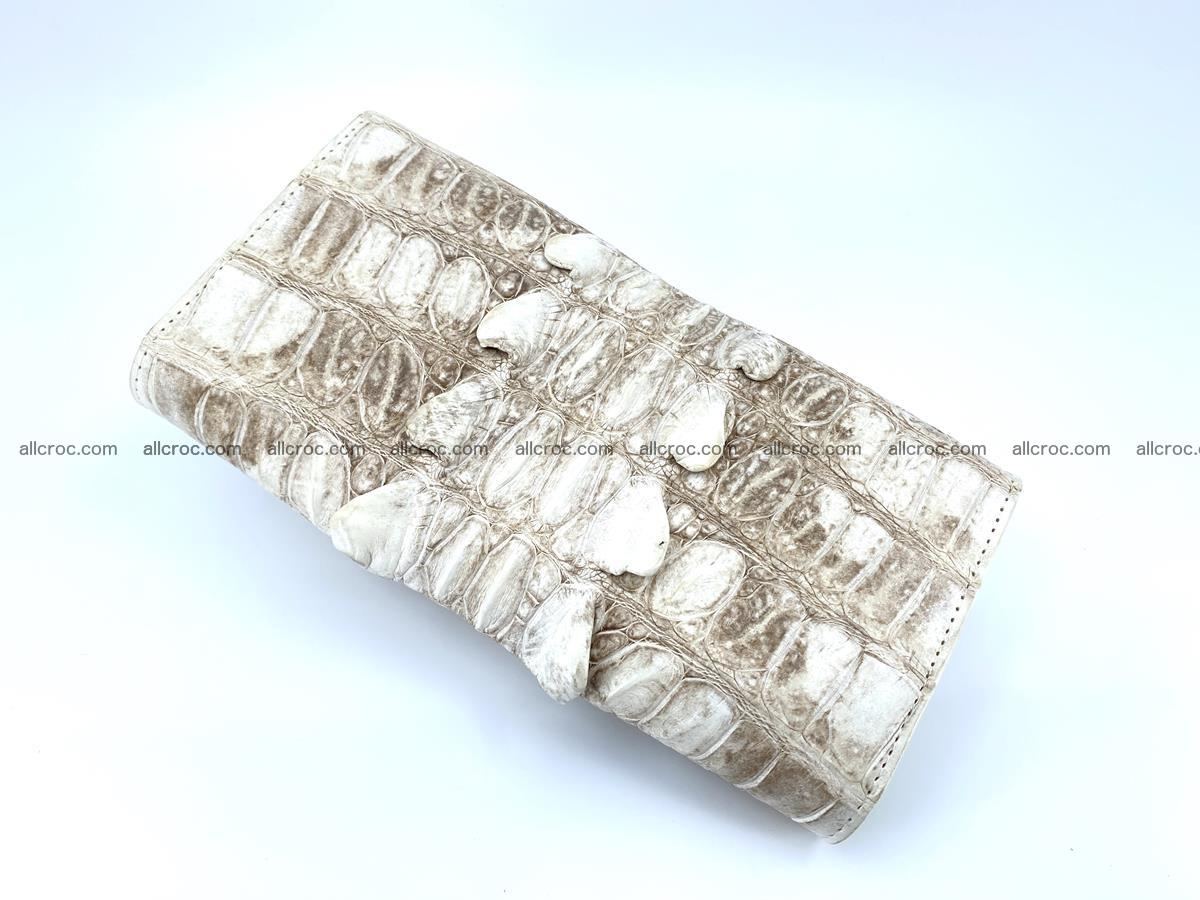 Long wallet trifold from Siamese crocodile leather 511 Foto 3