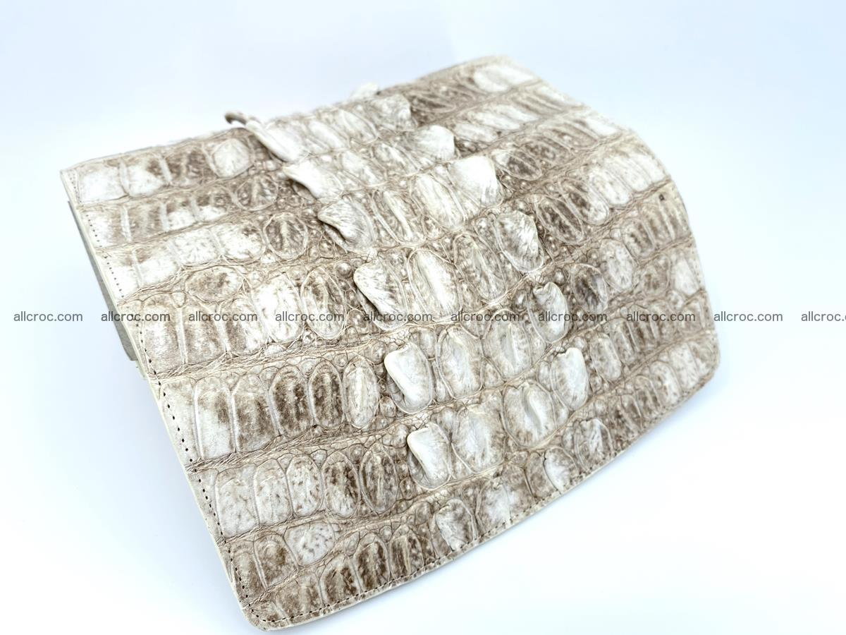 Long wallet trifold from Siamese crocodile leather 511 Foto 5