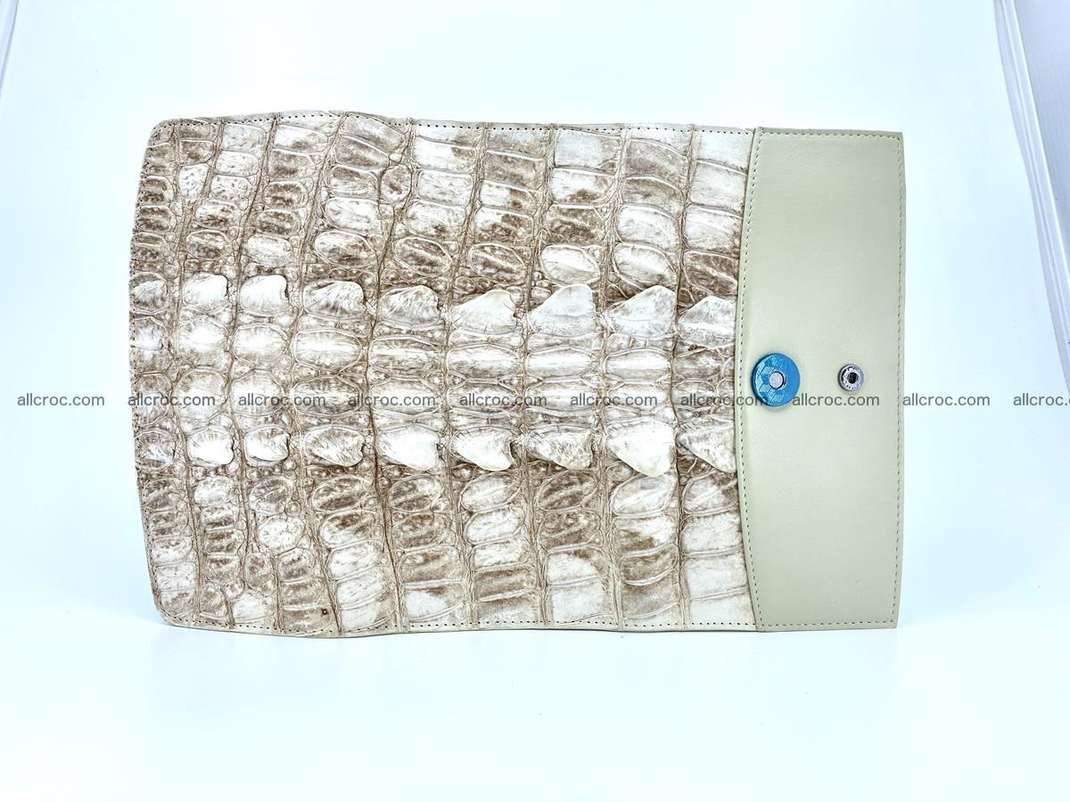 Long wallet trifold from Siamese crocodile leather 511 Foto 8