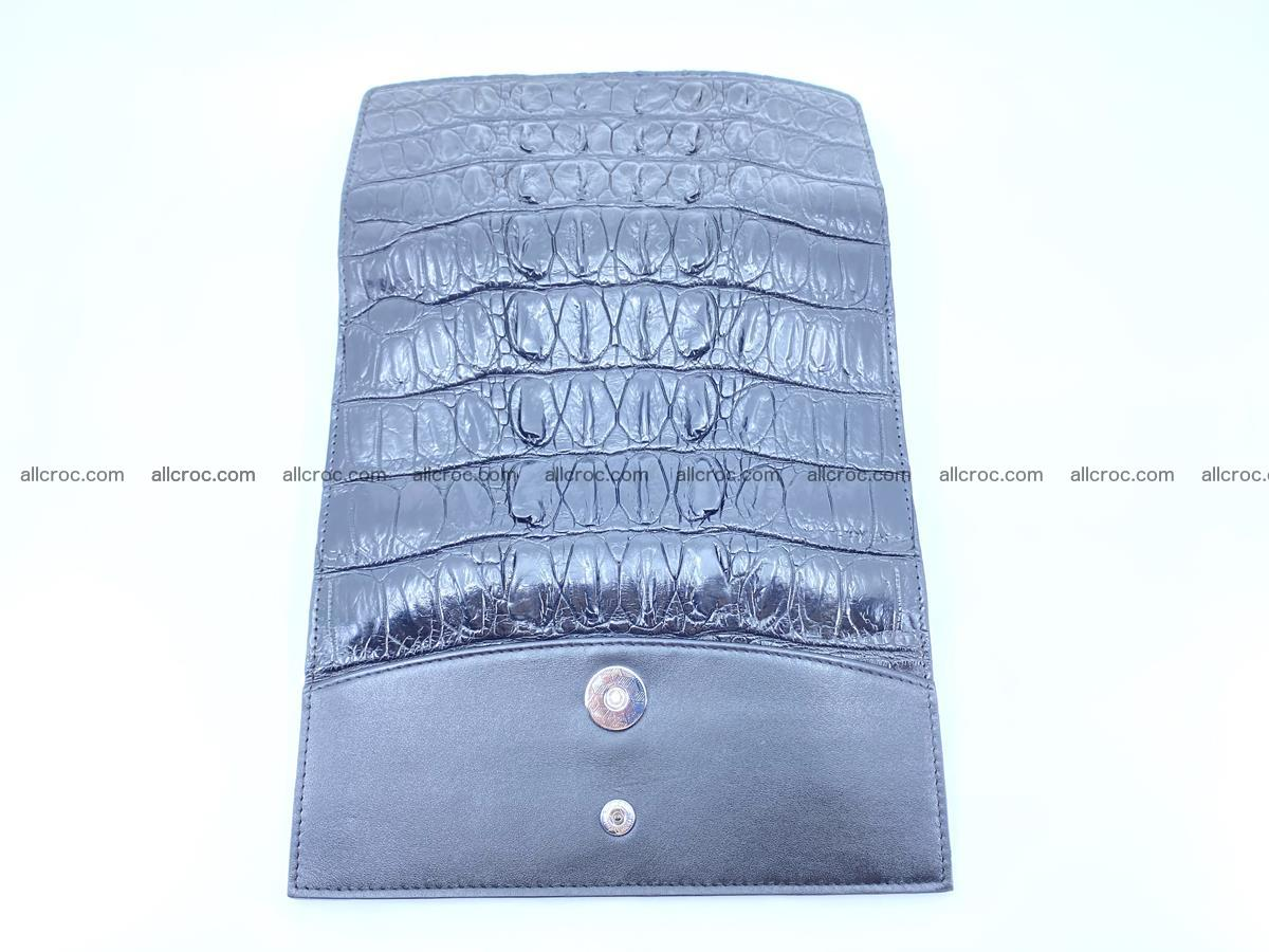 Long wallet trifold from Siamese crocodile leather 510 Foto 7