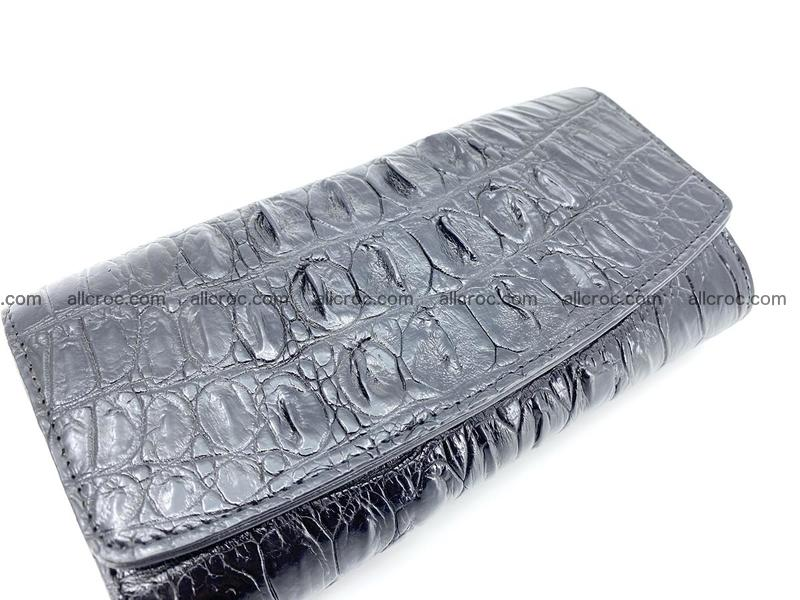 Long wallet trifold from Siamese crocodile leather 510