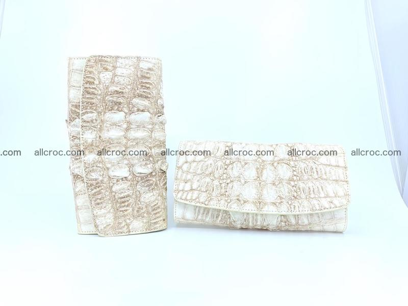 Long wallet trifold from Siamese crocodile leather 512
