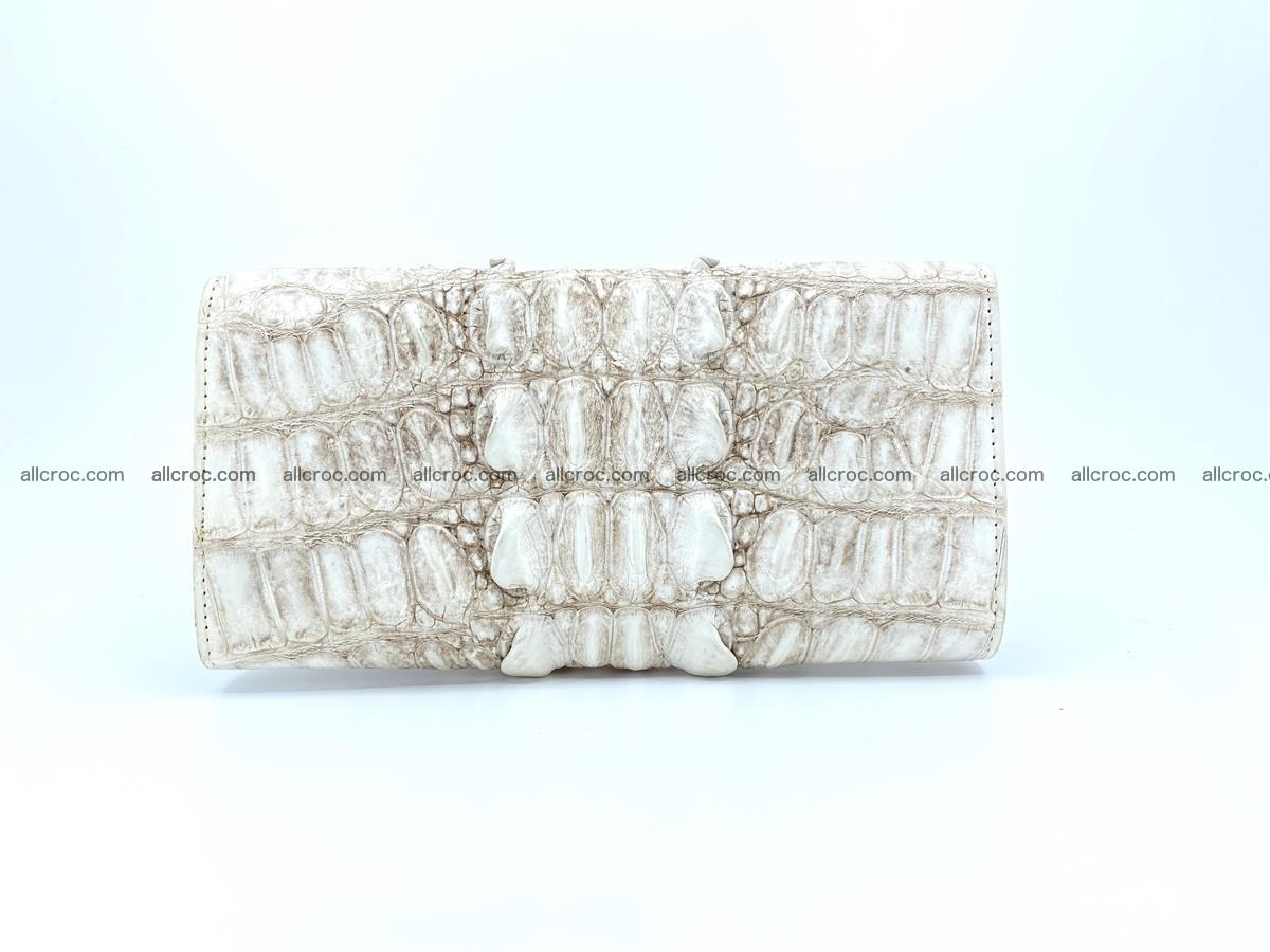 Long wallet trifold from Siamese crocodile leather 512 Foto 1