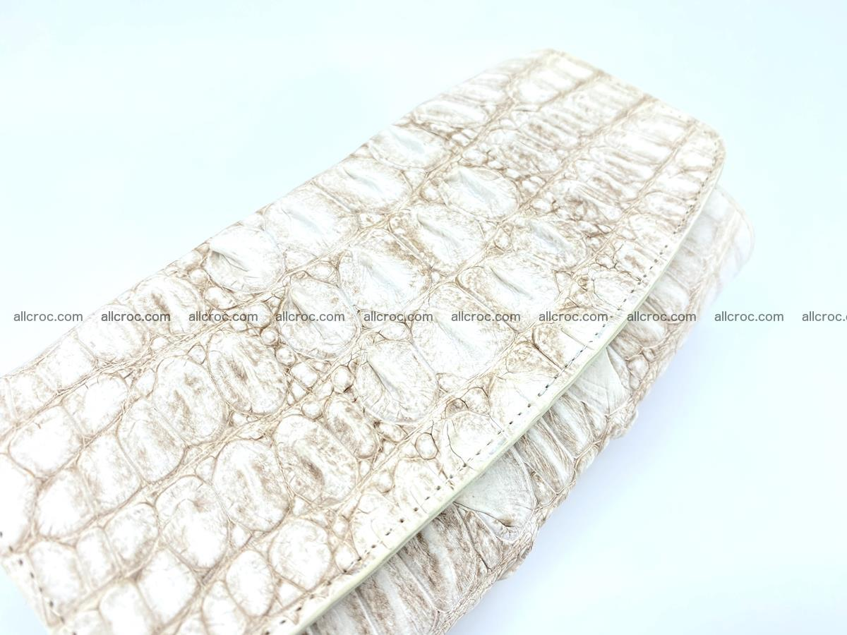 Long wallet trifold from Siamese crocodile leather 512 Foto 2