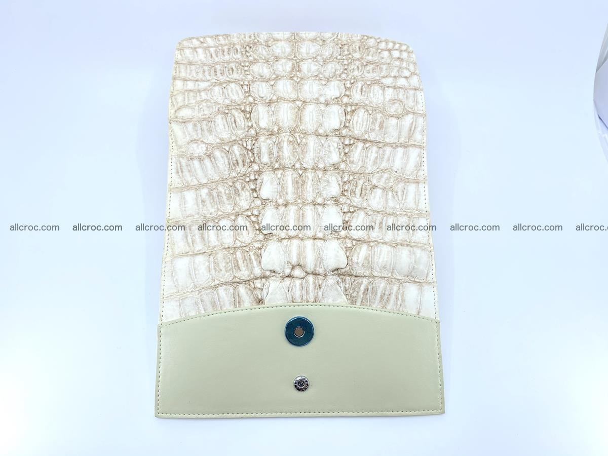Long wallet trifold from Siamese crocodile leather 512 Foto 9