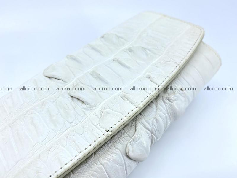 Long wallet trifold from Siamese crocodile leather 513