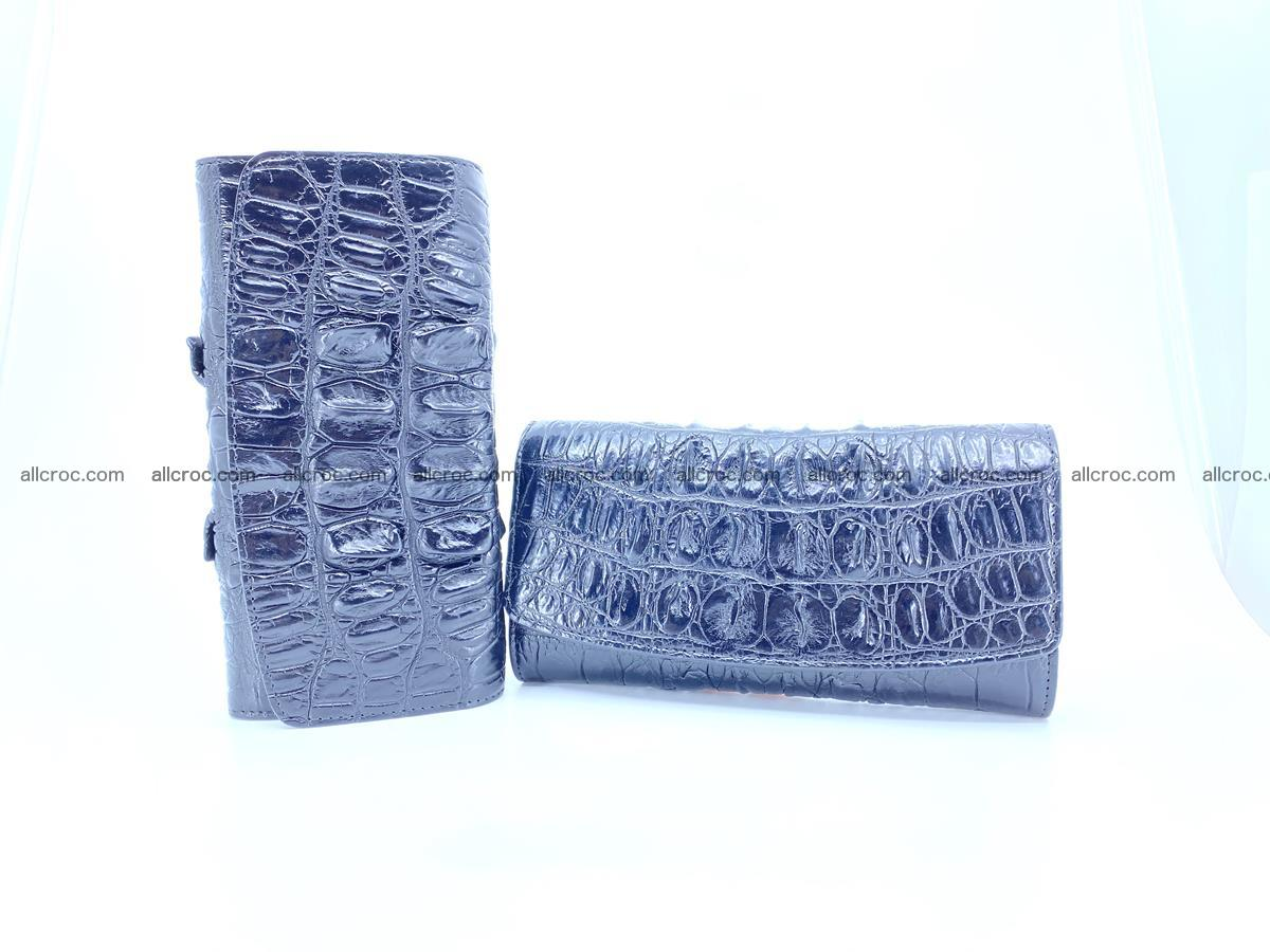 Long wallet trifold from Siamese crocodile leather 510 Foto 11