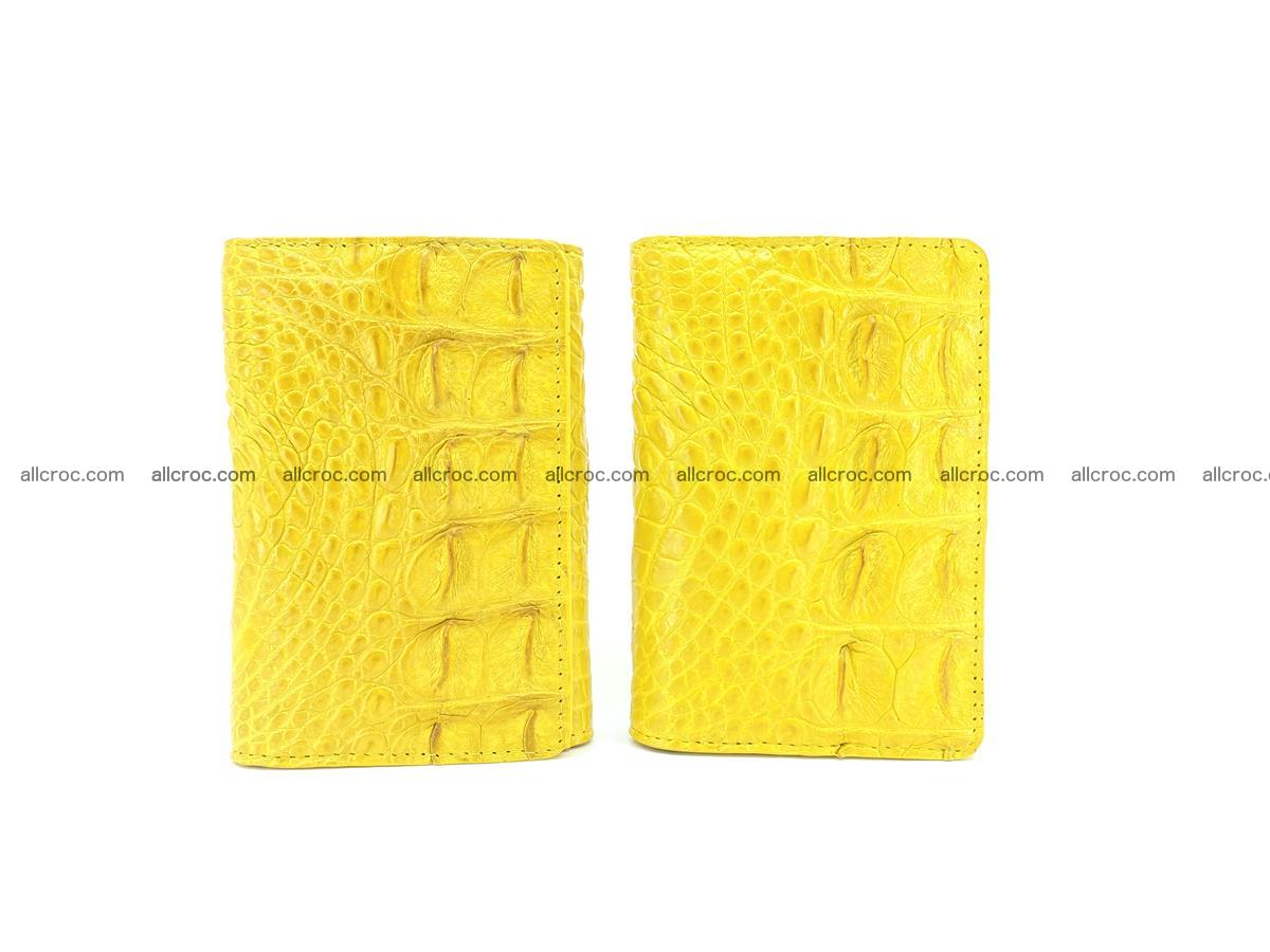 Siamese crocodile skin wallet for lady, trifold medium size 425 Foto 10