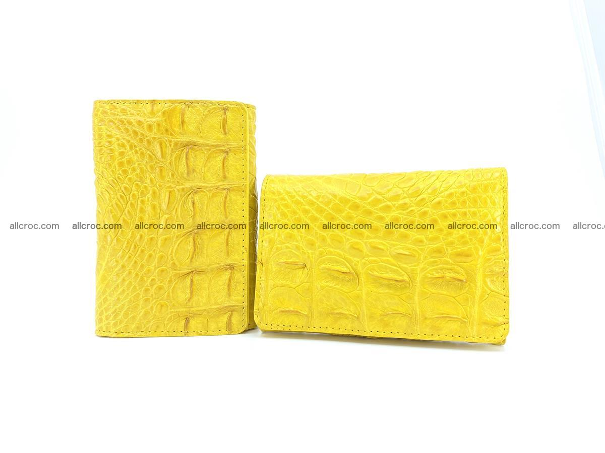 Siamese crocodile skin wallet for lady, trifold medium size 425 Foto 11