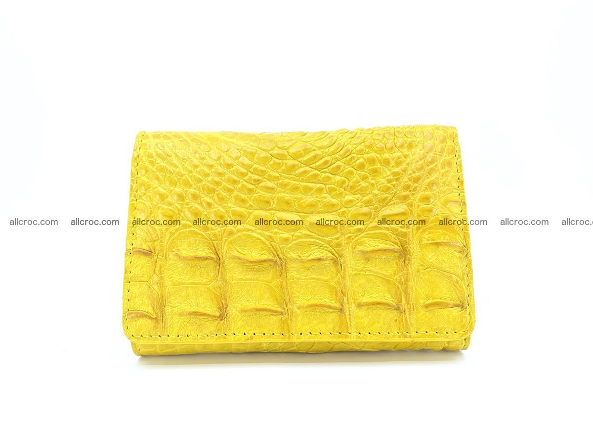 Siamese crocodile skin wallet for lady, trifold medium size 425 Foto 0