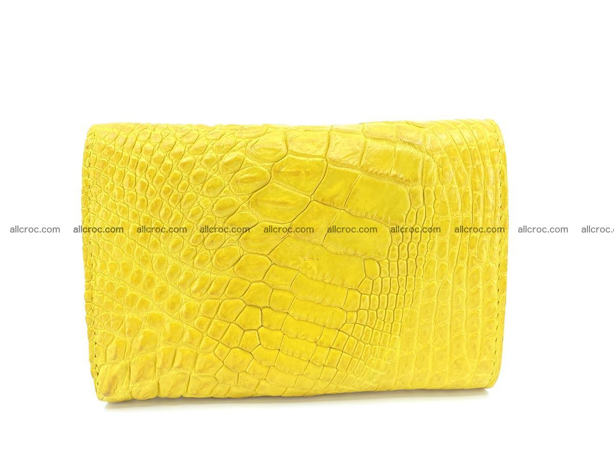 Siamese crocodile skin wallet for lady, trifold medium size 425 Foto 1