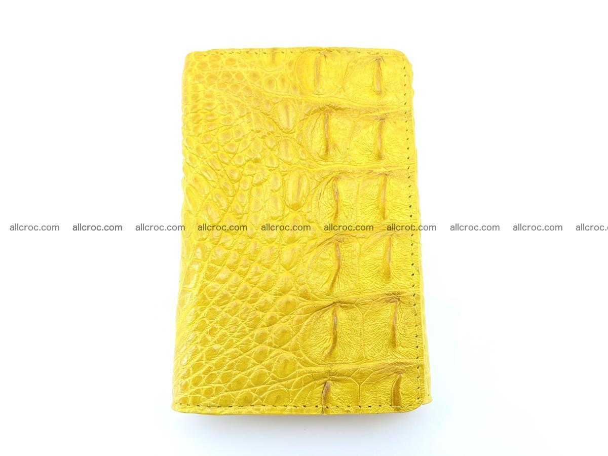 Siamese crocodile skin wallet for lady, trifold medium size 425 Foto 2