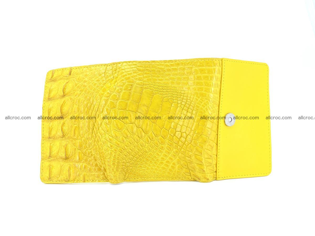 Siamese crocodile skin wallet for lady, trifold medium size 425 Foto 8