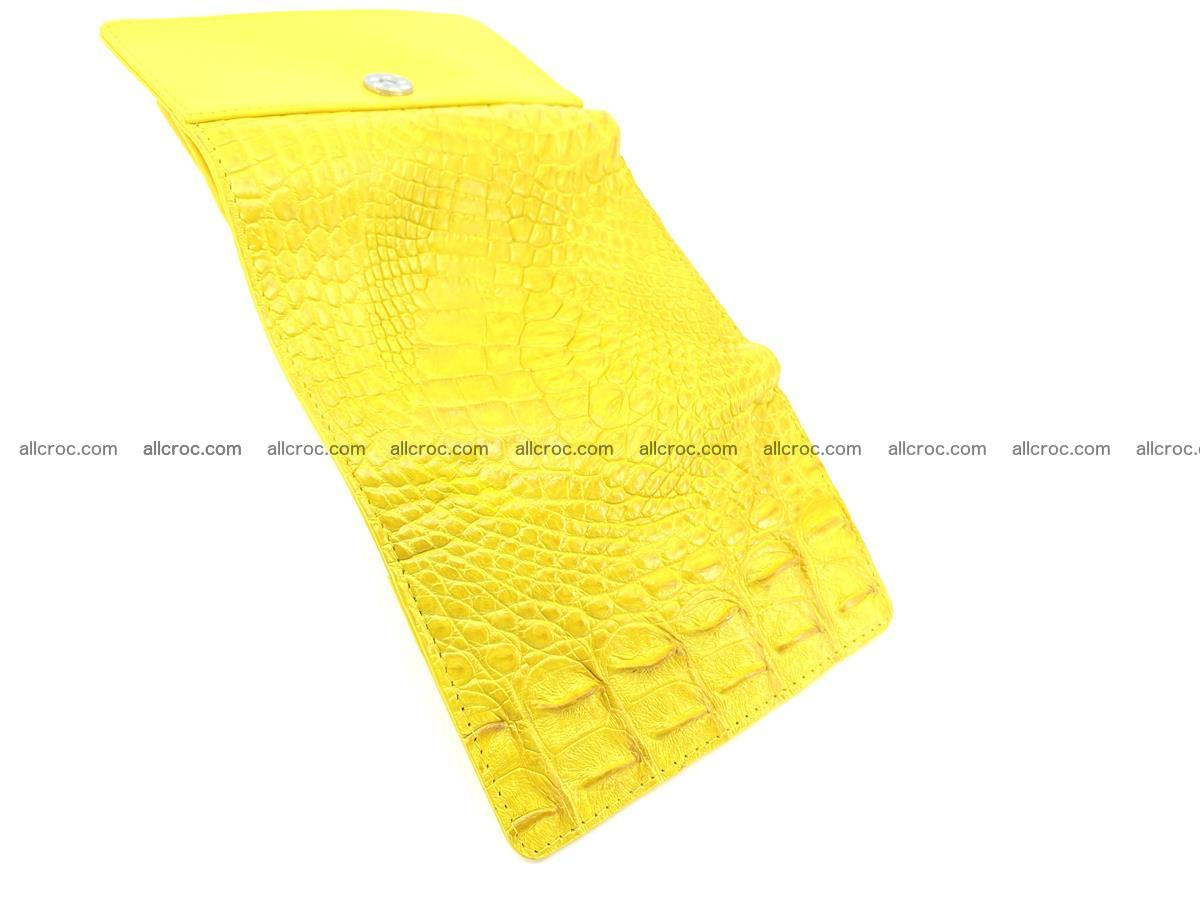 Siamese crocodile skin wallet for lady, trifold medium size 425 Foto 9