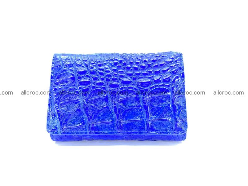 Siamese crocodile skin wallet for lady, trifold medium size 424