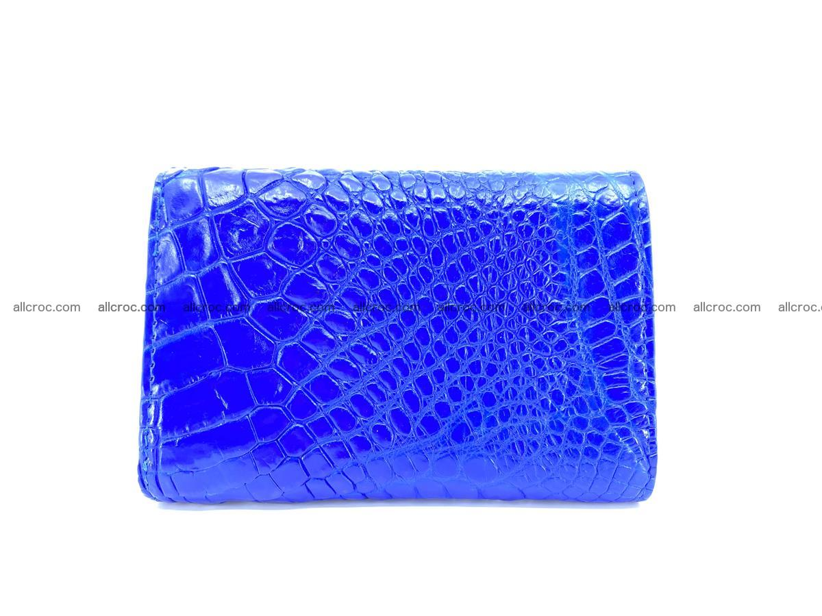 Siamese crocodile skin wallet for lady, trifold medium size 424 Foto 1