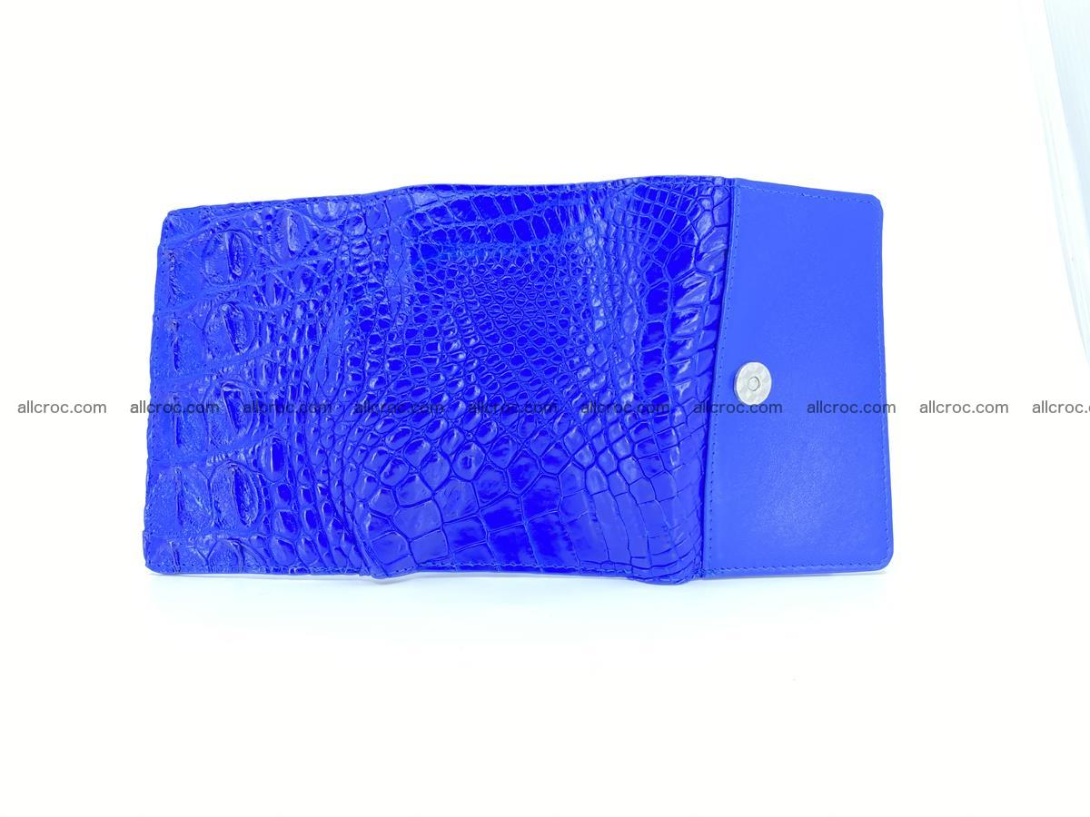 Siamese crocodile skin wallet for lady, trifold medium size 424 Foto 8