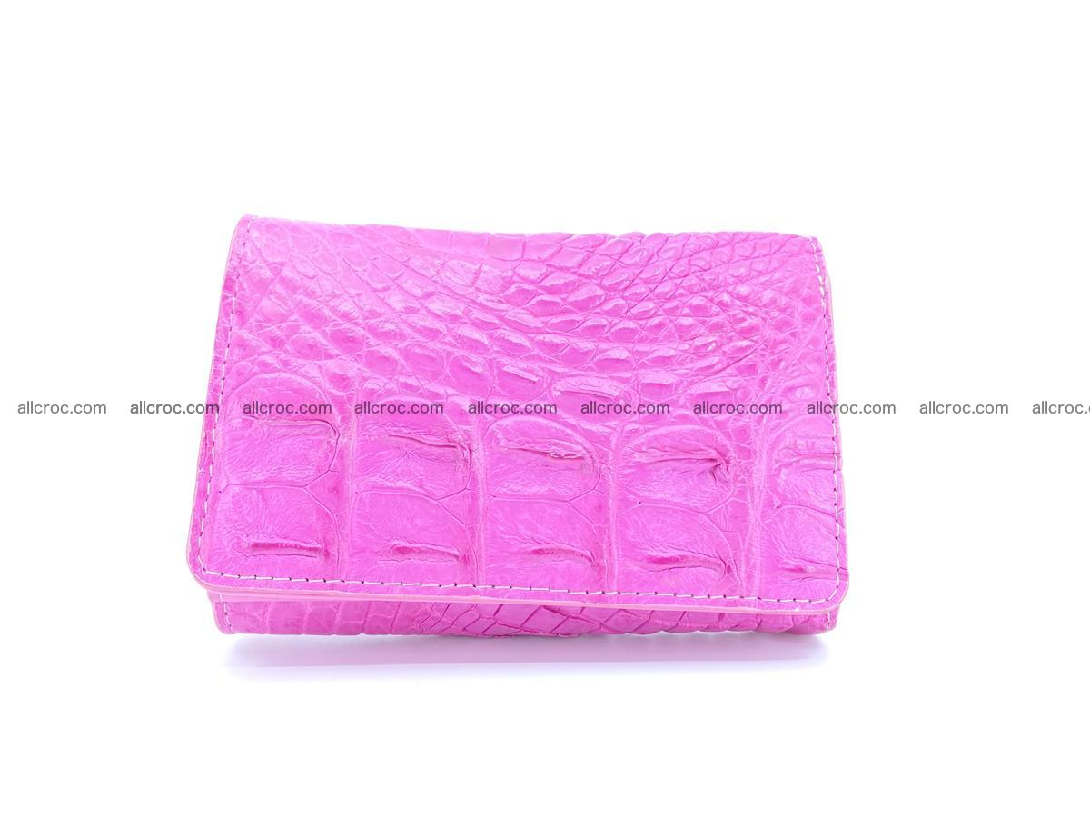 Siamese crocodile skin wallet for lady, trifold medium size 423 Foto 0