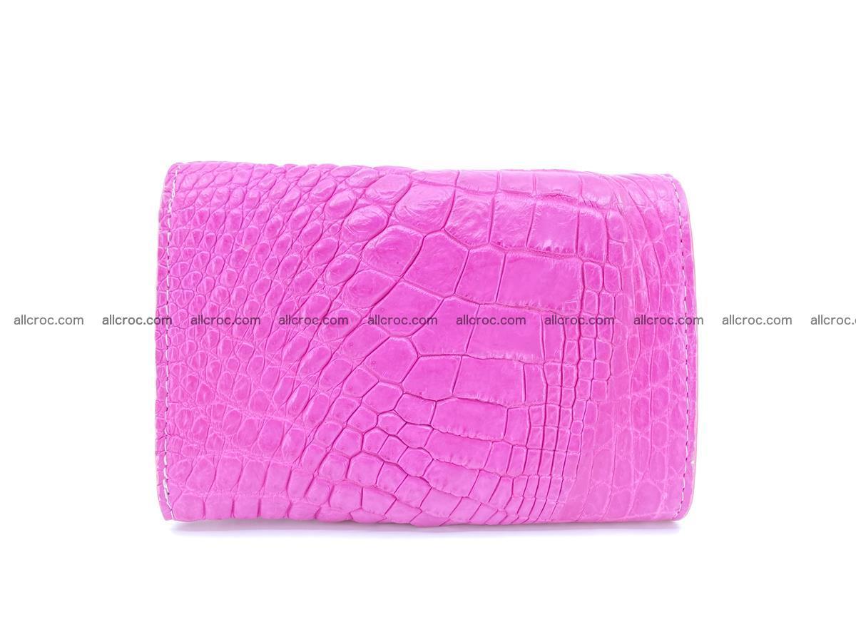 Siamese crocodile skin wallet for lady, trifold medium size 423 Foto 1