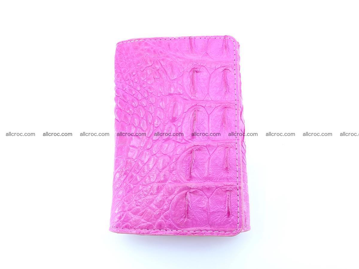 Siamese crocodile skin wallet for lady, trifold medium size 423 Foto 2