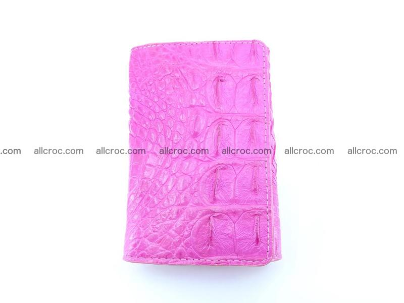 Siamese crocodile skin wallet for lady, trifold medium size 423