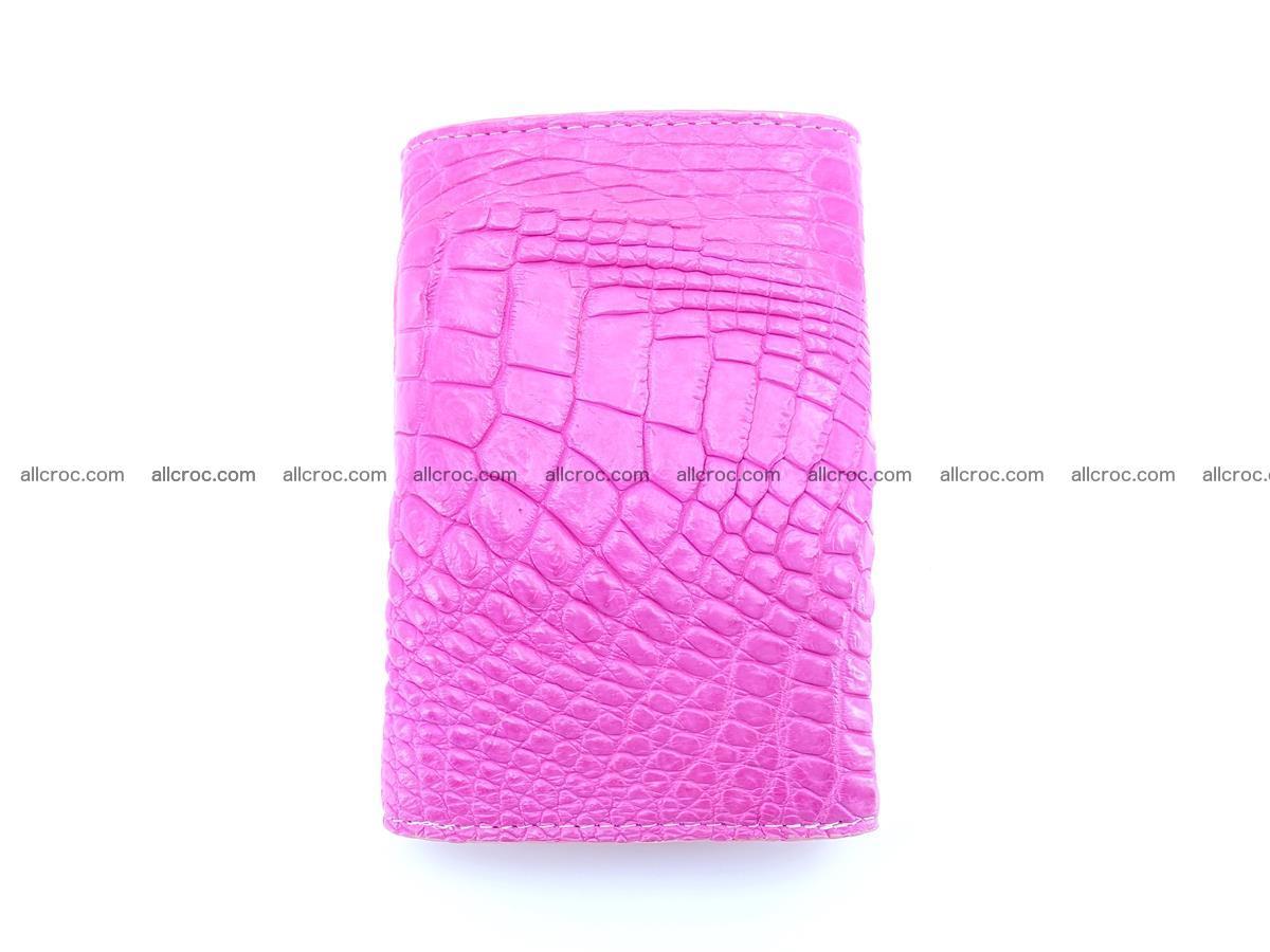 Siamese crocodile skin wallet for lady, trifold medium size 423 Foto 3