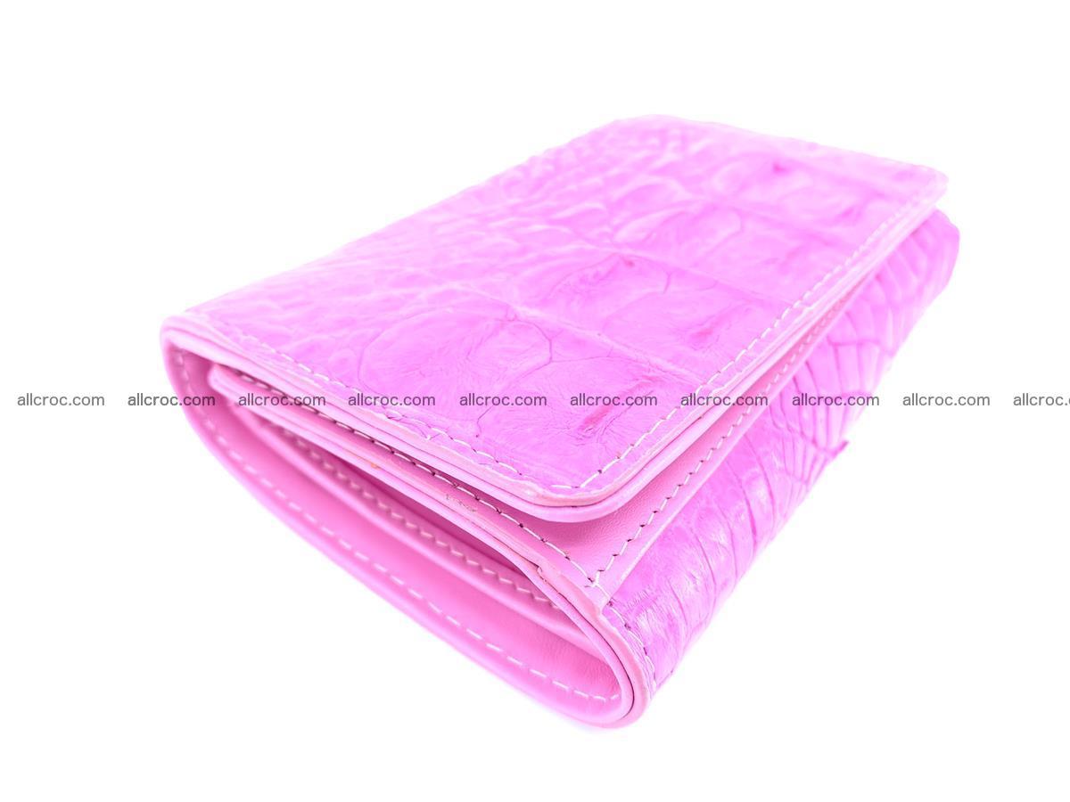 Siamese crocodile skin wallet for lady, trifold medium size 423 Foto 4