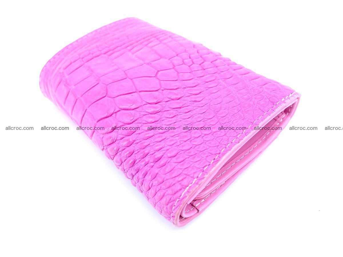 Siamese crocodile skin wallet for lady, trifold medium size 423 Foto 5