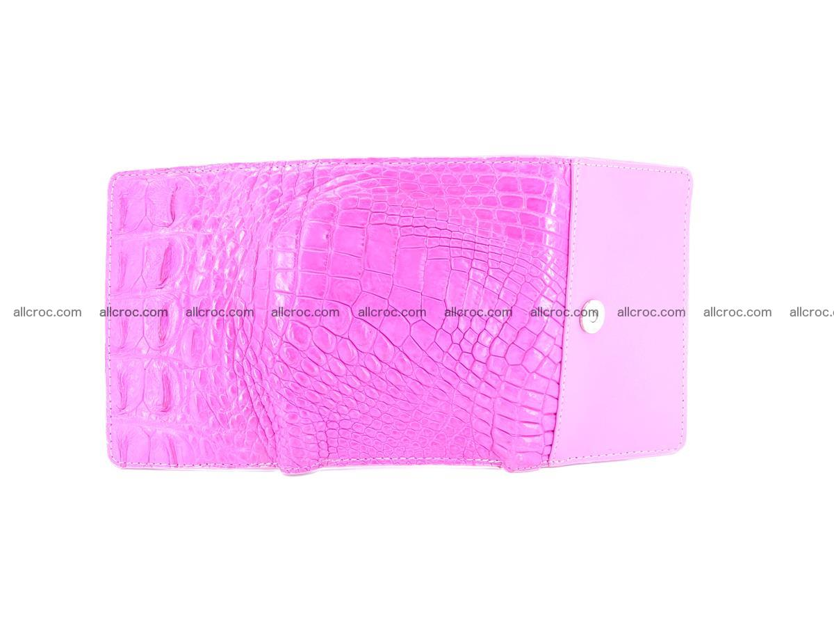 Siamese crocodile skin wallet for lady, trifold medium size 423 Foto 8