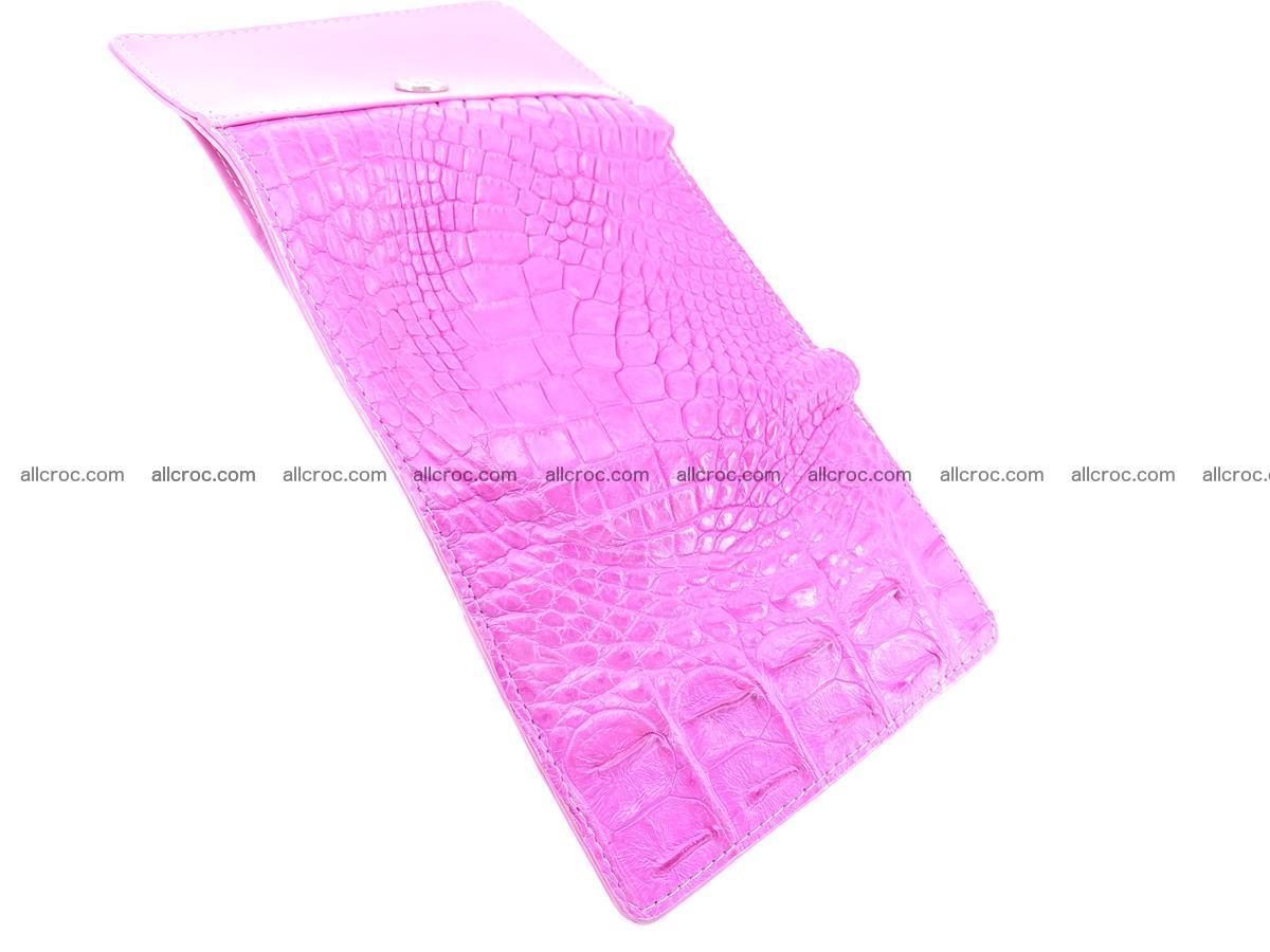 Siamese crocodile skin wallet for lady, trifold medium size 423 Foto 9