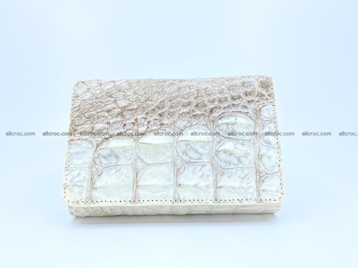Siamese crocodile skin wallet for lady, trifold medium size 426 Foto 0