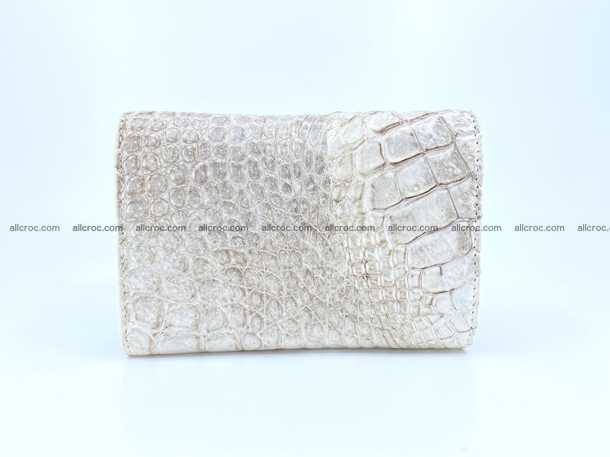 Siamese crocodile skin wallet for lady, trifold medium size 426 Foto 1