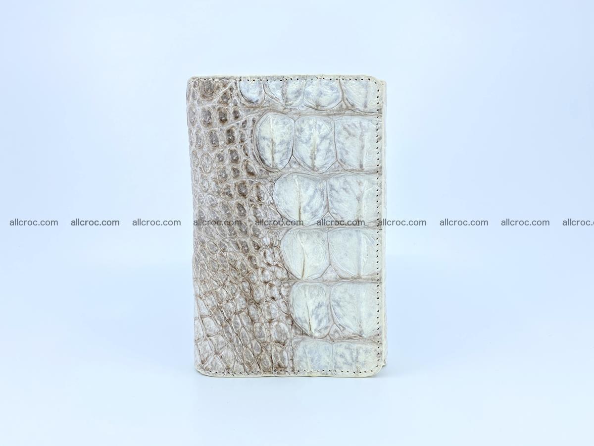 Siamese crocodile skin wallet for lady, trifold medium size 426 Foto 2