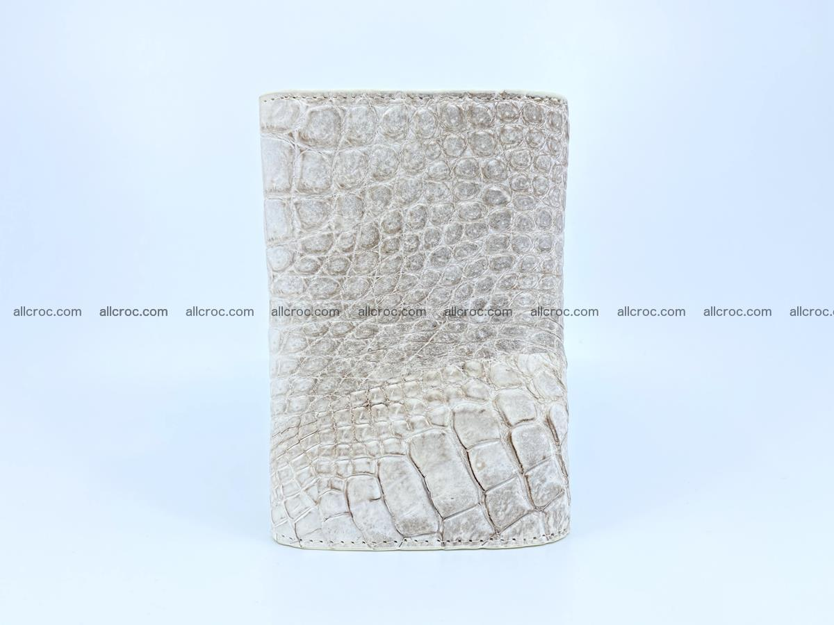 Siamese crocodile skin wallet for lady, trifold medium size 426 Foto 3