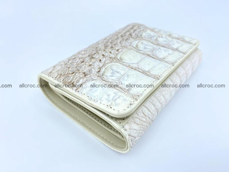 Siamese crocodile skin wallet for lady, trifold medium size 426