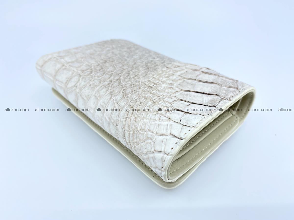 Siamese crocodile skin wallet for lady, trifold medium size 426 Foto 5