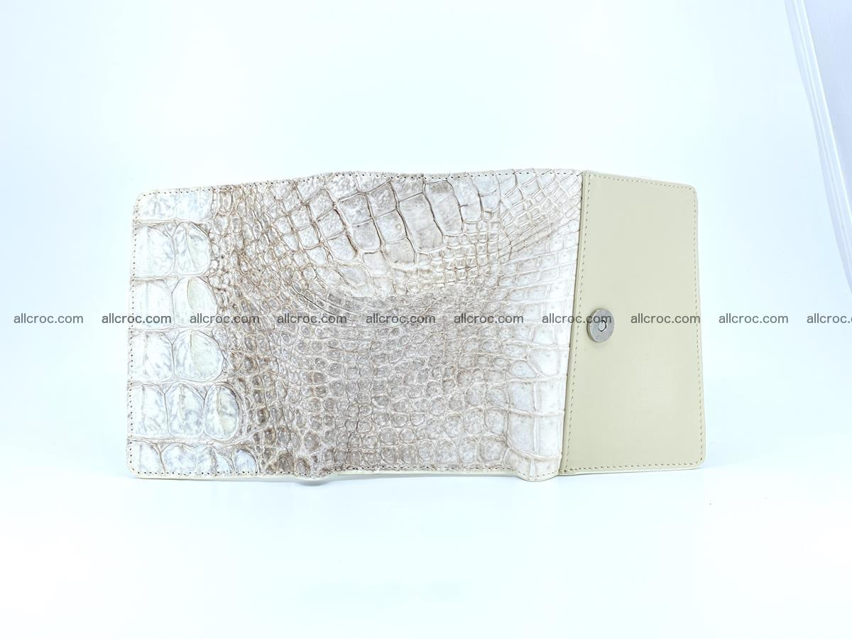 Siamese crocodile skin wallet for lady, trifold medium size 426 Foto 8