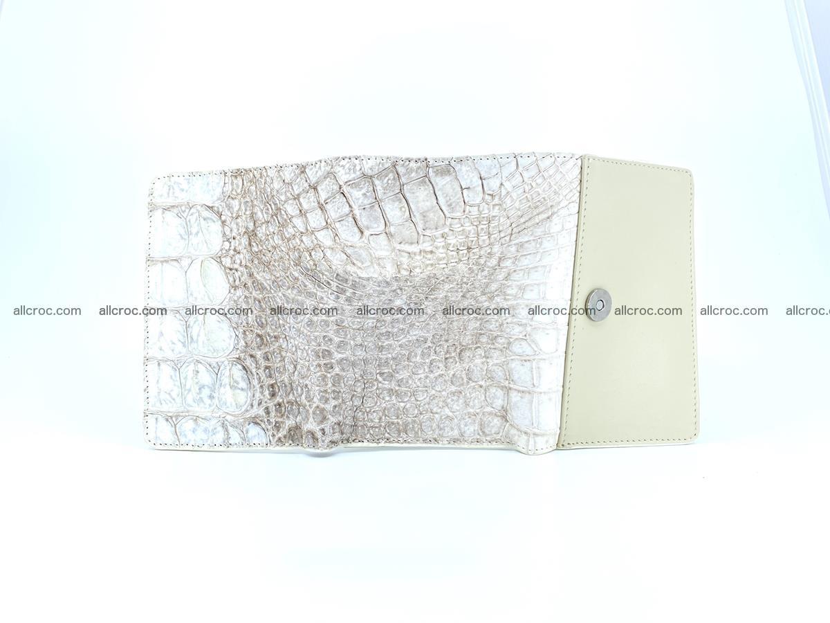 Siamese crocodile skin wallet for lady, trifold medium size 426 Foto 10