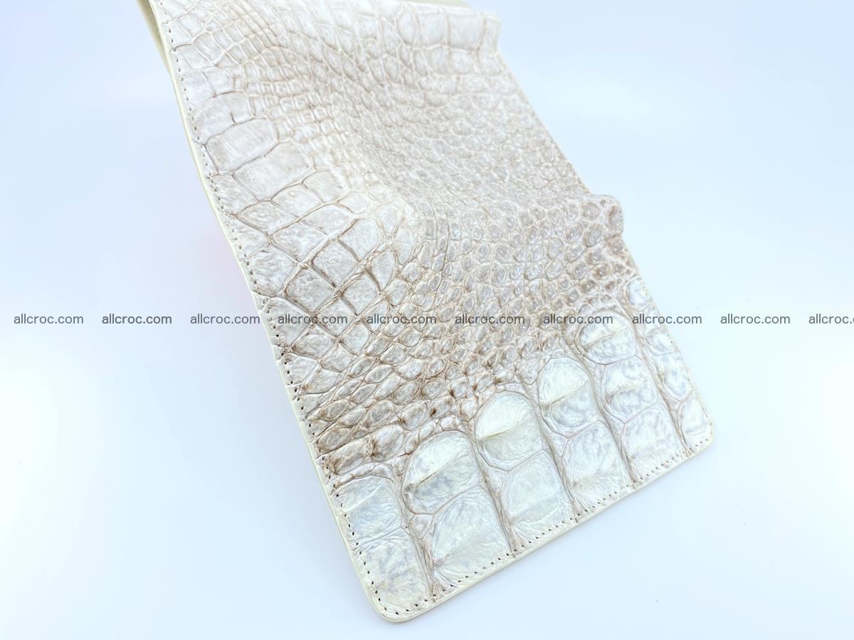 Siamese crocodile skin wallet for lady, trifold medium size 426 Foto 9