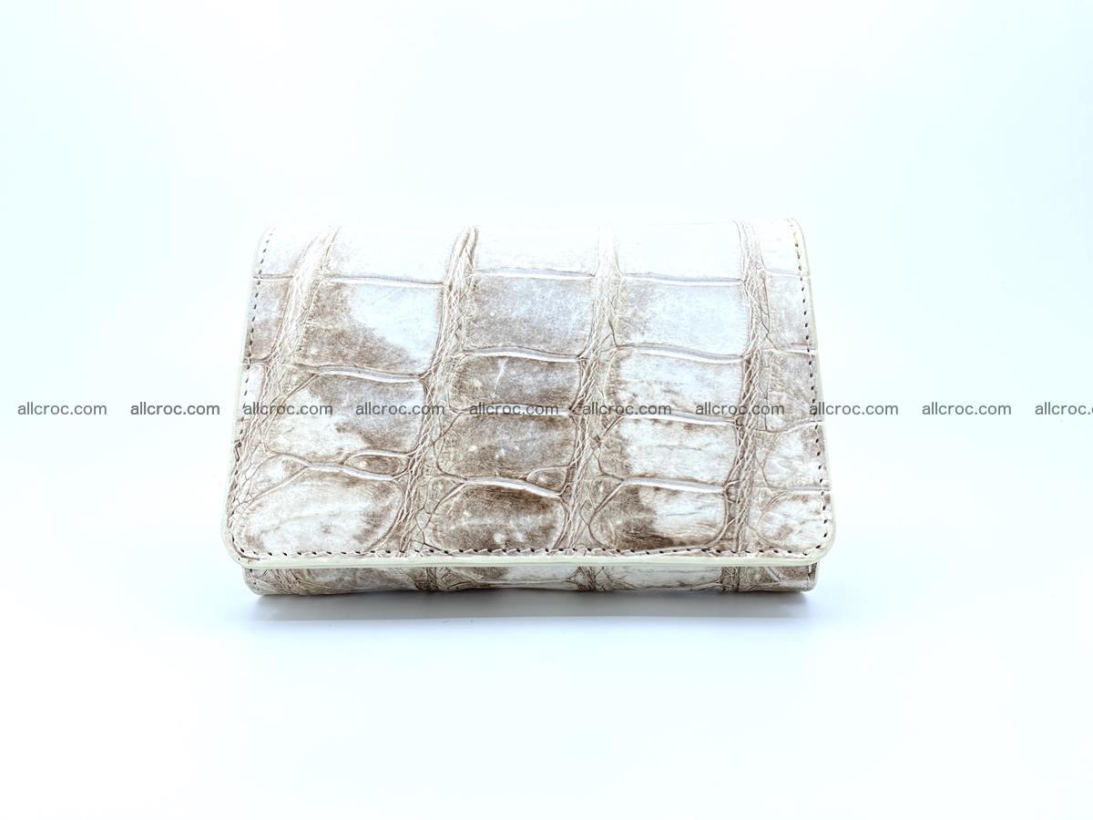 Siamese crocodile skin wallet for women belly part trifold medium size 450 Foto 0