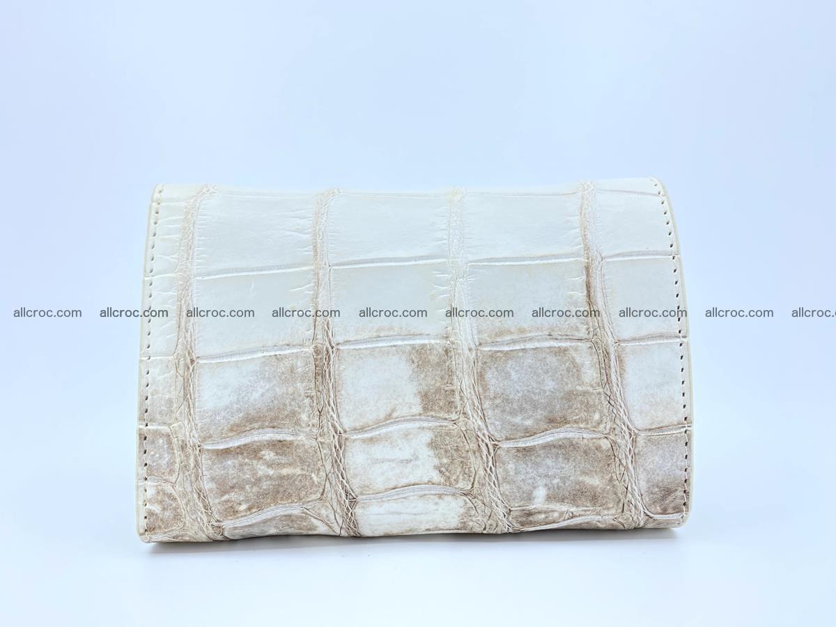 Siamese crocodile skin wallet for women belly part trifold medium size 450 Foto 1