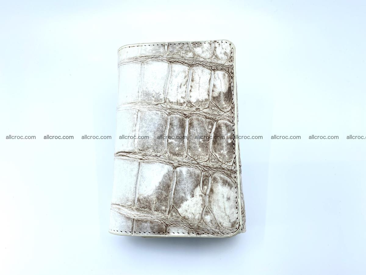 Siamese crocodile skin wallet for women belly part trifold medium size 450 Foto 2
