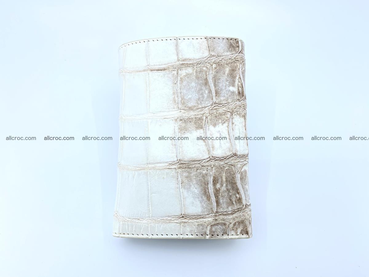 Siamese crocodile skin wallet for women belly part trifold medium size 450 Foto 3