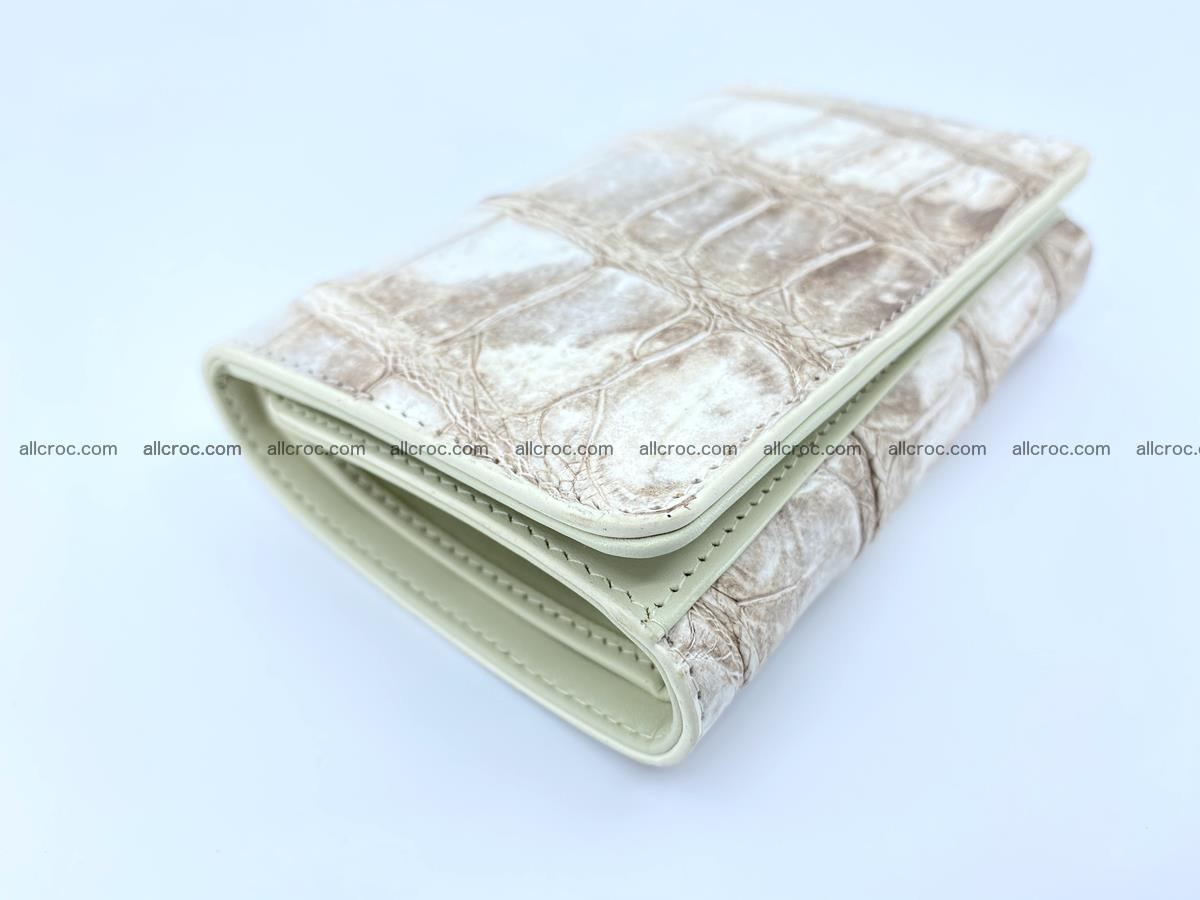 Siamese crocodile skin wallet for women belly part trifold medium size 450 Foto 4