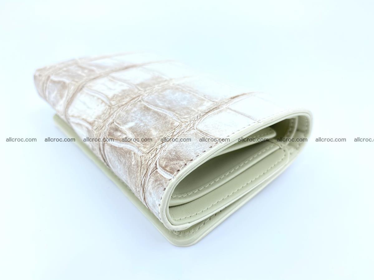 Siamese crocodile skin wallet for women belly part trifold medium size 450 Foto 5