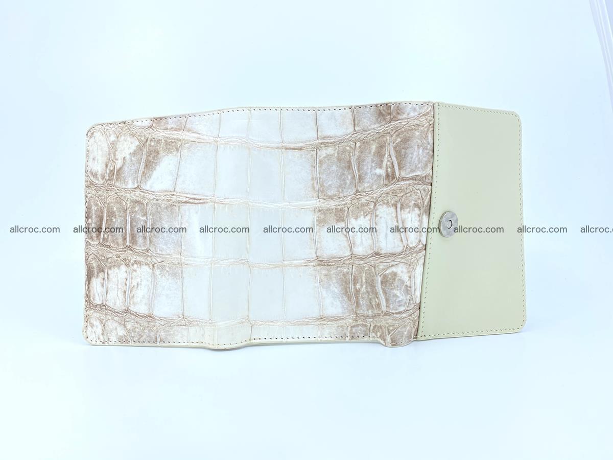 Siamese crocodile skin wallet for women belly part trifold medium size 450 Foto 6
