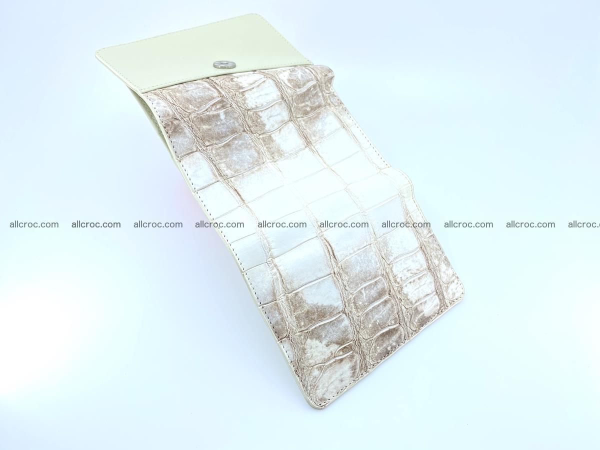Siamese crocodile skin wallet for women belly part trifold medium size 450 Foto 8
