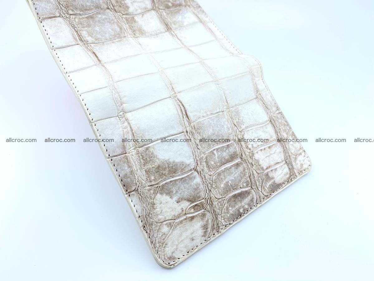Siamese crocodile skin wallet for women belly part trifold medium size 450 Foto 7